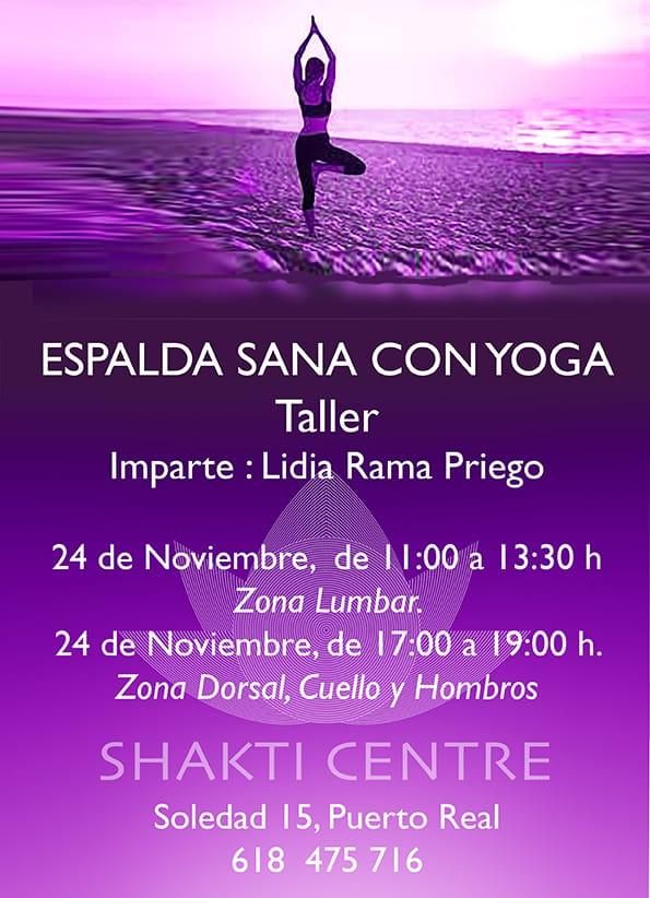 "Telleres ""Espalda sana con Yoga"""